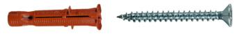 Universaldübel mit Flachkopf-Spanplattenschraube  ZEBRA SHARK W-ZX