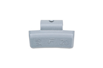 Zinc impact balance weight for car aluminium rims - BAW-62Z-ZINC-ALURIM-COAT-10G