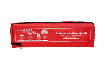 Printed car first aid bag, three pieces
