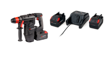 Kit martello H28- MAS con Power Pack 5Ah con due mandrini intercambiabili - KIT-MARTELLO-H28MA-POWERPACK-5AH