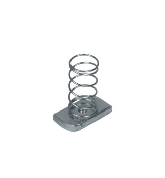 Channel nuts with springs