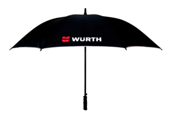 Golf umbrella, black with reflective stripe
