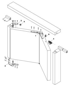 Guarnitura Per Porta Pighevole A Libro 0684512100