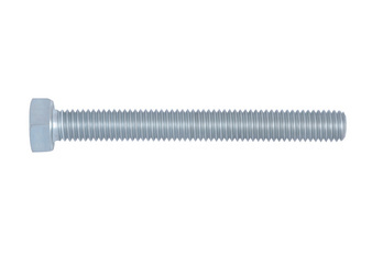 Hexagonal bolt with thread up to the head