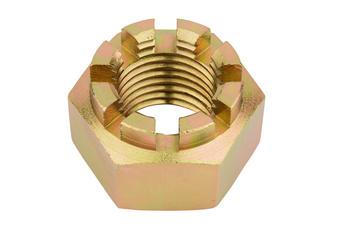 DIN 935 acciaio 8 zincato giallo - DADO A CORONA-DIN935-8-B-ZNG 8MY-M24