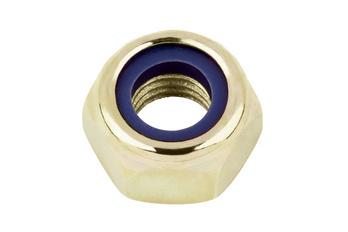 Sechskantmutter niedrige Form mit Klemmteil (nichtmetallischer Einsatz)