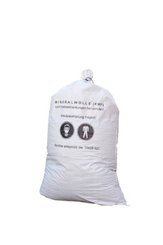 Fabric sack Mineral wool