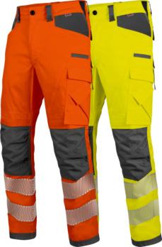 Neon Warnschutz Bundhose Klasse 2