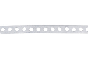 Punched mounting strip, no marginal perforations