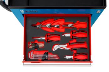 Solution alvéole pinces - pinces circlips - clés 6P mâle et torx - embout Pour tiroir de servante S-série ou C-série