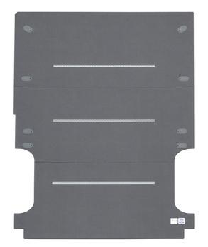 Floor panel with integrated lashing rails