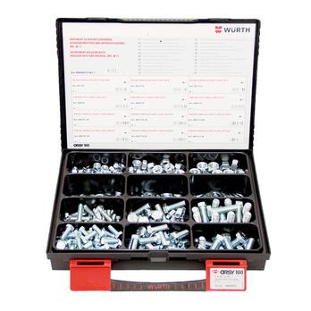 DIN 933/DIN 934/DIN 125 acciaio zincato 435 pezzi
