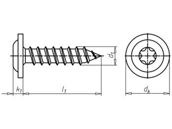 linsenkopf fensterbankschraube mit flansch 0126243920. Black Bedroom Furniture Sets. Home Design Ideas