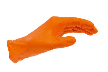 Disposable nitrile grip glove - PROTGLOV-NITRILE-GRIP-ORANGE-S