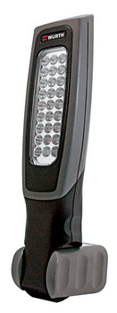 Battery-powered LED hand-held lamp, Ergolight