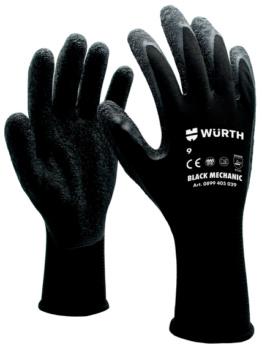 防护手套 黑色技工 - 机工手套-黑色-8号