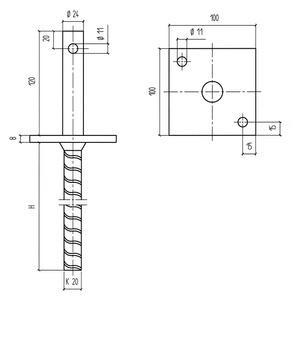 pfostentr ger bd d tzn 0681491025 w rth. Black Bedroom Furniture Sets. Home Design Ideas