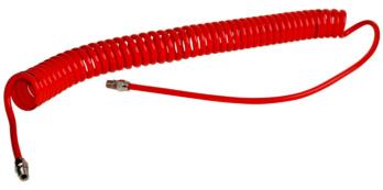 PU-Druckluft-Spiralschlauch mit AG-Anschluss