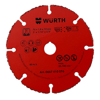 Cutting disc, carbide-tipped - DISCO-TAGLIO-HM-1,8-FORO 10,0-D.76MM