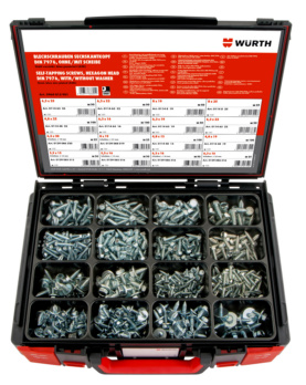 Hexagon head tapping screws DIN 7976 / combi tapping screws hexagon head with washer assortment