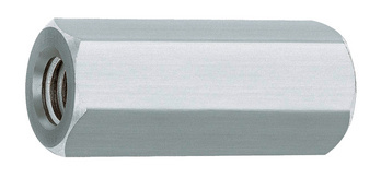 Hexagonal galvanised steel spacer sleeve