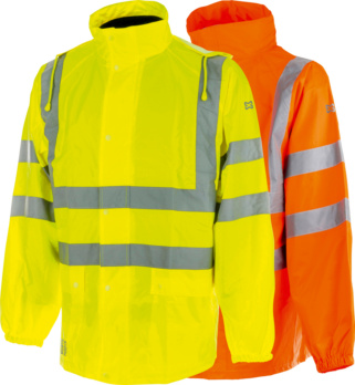Warnschutz Regenjacke Klasse 3