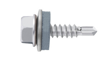 Self-drilling façade construction screw with hexagon head and sealing washer piasta<SUP>®</SUP>