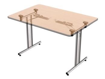 Kit gambe per tavolo pieghevoli in acciaio cromato - Gambe acciaio per tavoli ...