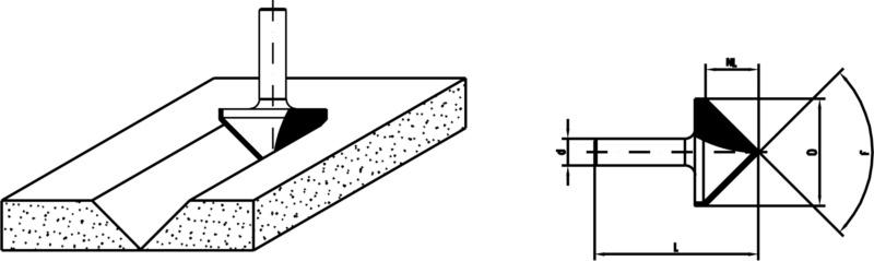 Holz-Gipskartonfräser Gibskartonfräser - FRAES-GIPSKARN-HW-S8-D32-L49MM