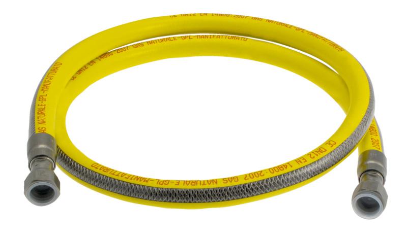 Tubo flessibile in acciaio inox per gas - Tubo gas cucina lunghezza massima ...