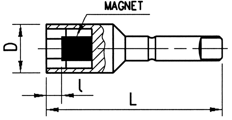 1/4 Zoll Steckschlüsseleinsatz Satz - KFTSTESHSL-1/4ZO-SET-MAGN-L51MM-5TLG