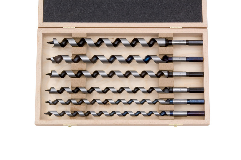 Auger drill bit plus assortment  - DRLBIT-AUGER-SET-250MM-6PCS