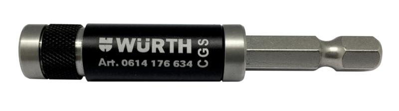 Portainserti E 6.3 (1/4) magnet, una mano, lungo - PORTAINSERTI-1/4-MICRO-LOCK-66MM
