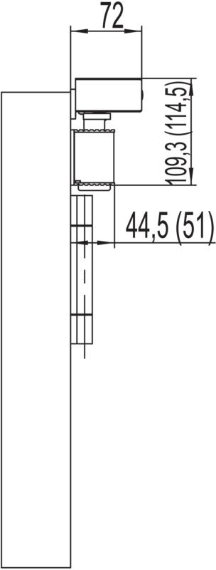 elektromagnetische feststellvorrichtung mit gleitschienent rschlie er gts 630 mit integriertem. Black Bedroom Furniture Sets. Home Design Ideas