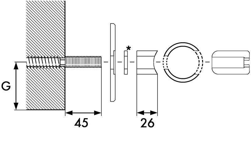 Accessori per porta scorrevole interna vidro 201 h 0687900035 - Porta scorrevole interna prezzo ...