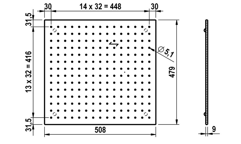 lochplatte holz f r schubk sten 0683363041 w rth. Black Bedroom Furniture Sets. Home Design Ideas