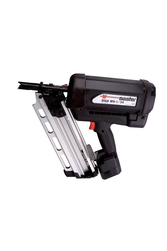 High-performance gas-powered nail gun DIGA<SUP>®</SUP> WO-1/34 - PINDRIV-(DIGA WO-1/34)-GAS