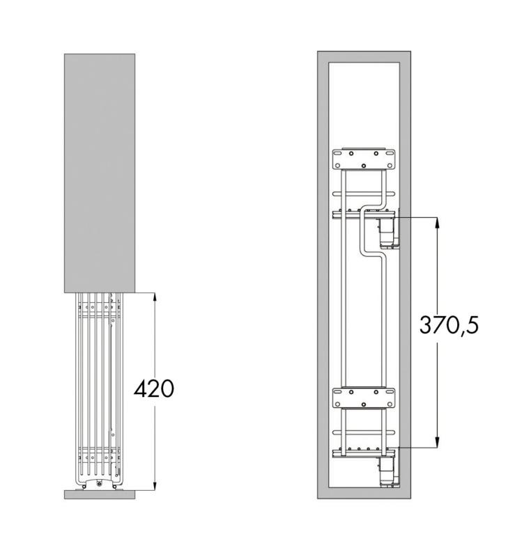 Cestello estraibile portabottiglie a 2 piani 0684901543 for Piani a 2 piani