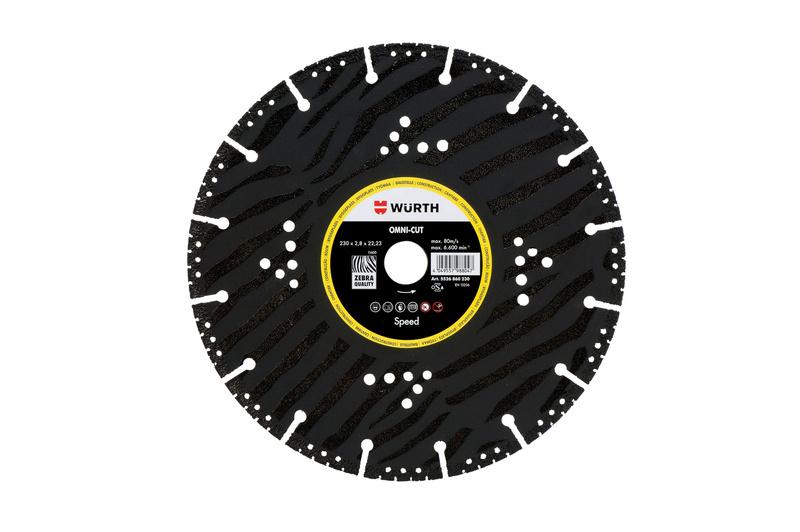 Speed Omni-Cut diamond cutting disc, construction site - CUTDISC-DIA-SP-OMNICUT-BR22,23-D115MM