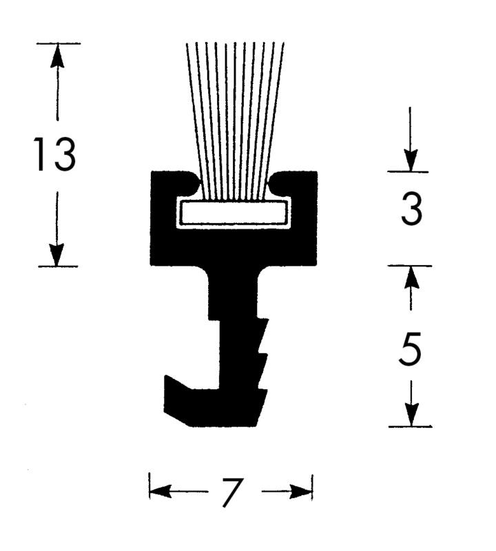 Guarnizione parapolvere a spazzola per ante scorrevoli 06845241 - Spazzole per porte scorrevoli ...