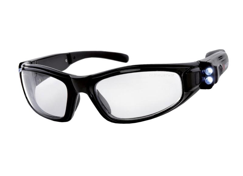 Ochranné brýle se svítilnou LED - AKU-OCHRBR-LED-USB
