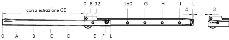Guide scorrevoli uscita parziale cassetti pesanti for Guide cassetti pesanti