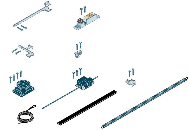 Kit chiusura automatica per porte scorrevoli con - Chiusura per porta scorrevole ...