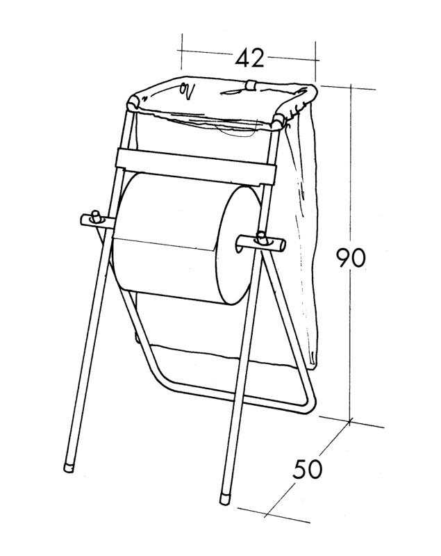 Papierrollenständer mit Abfallsackhalter - 0899800701