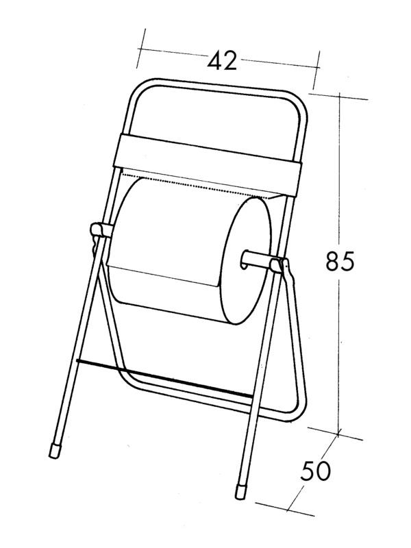 Papierrollenständer, klassische Ausführung - 0899800702