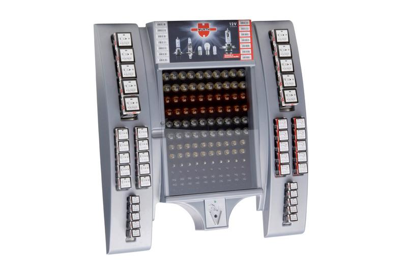 Expositor de lâmpadas 12V para automóveis - ARMARIO DE LAMPADAS AUTO 12V