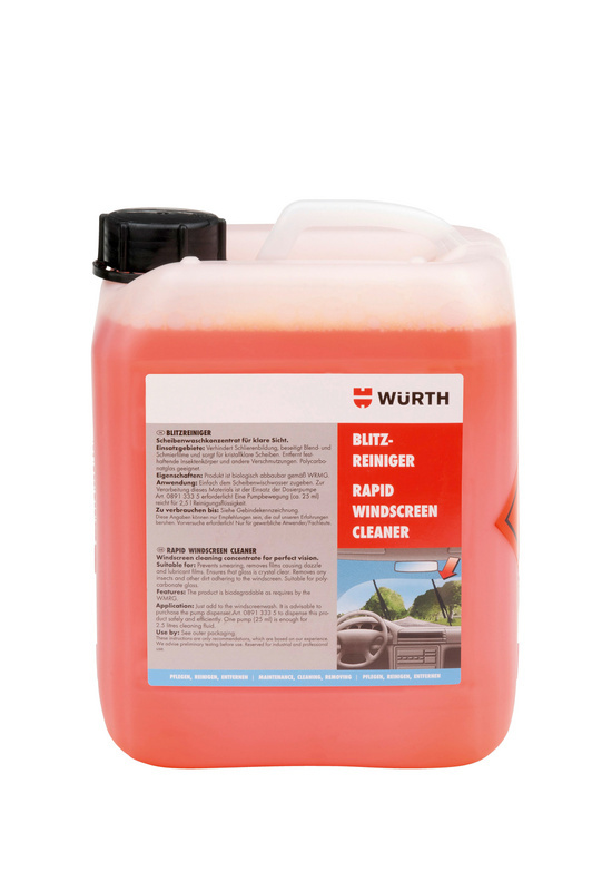 wurth active glass cleaner how to use