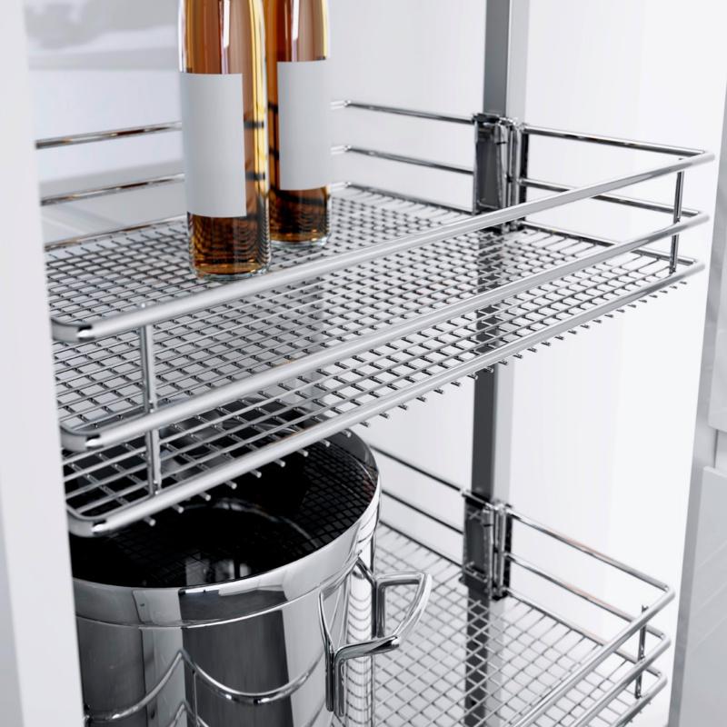 Voorraadkast Keuken Inhoud : Apothekerskast volledig uittrekbaar HSA Saphir – 0684901686