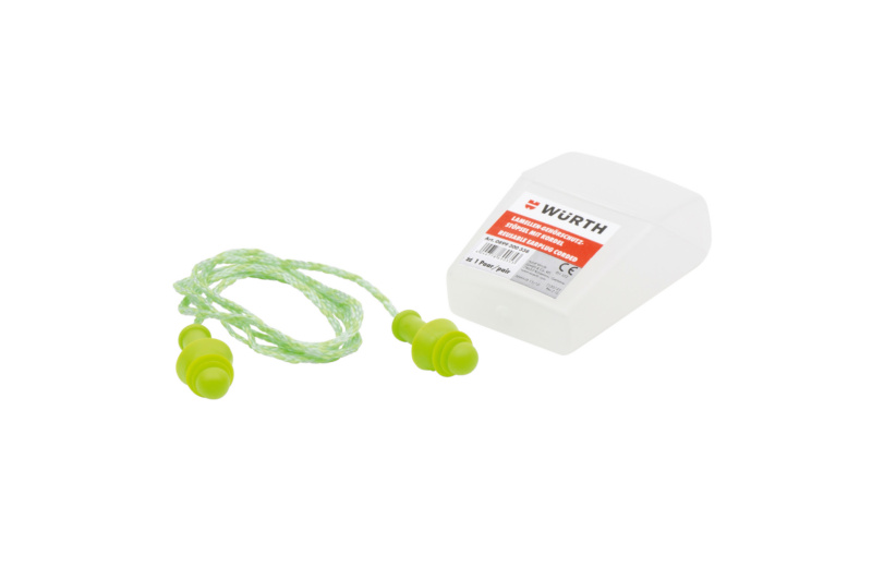 Lamellen-Gehörschutzstöpsel mit Kordel - GEHOERSHTZ-MEHRWEG-BAND