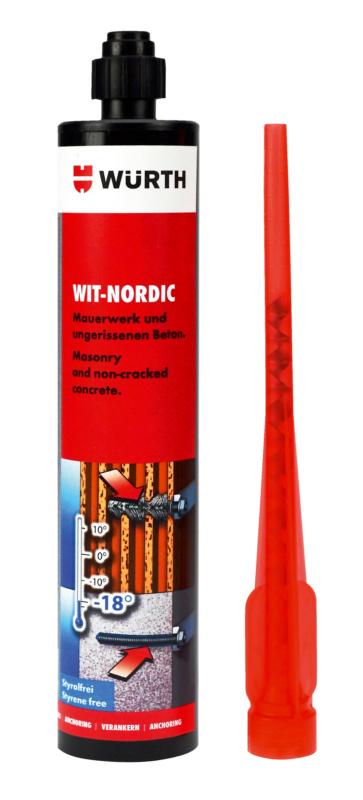 Инжекционный химический анкер WIT-NORDIC - РАСТВОР WIT NORDIC (КАРТУШ 310 МЛ)